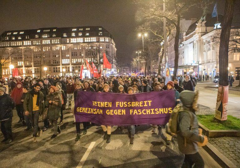 Erneute Demonstration anlässlich der Ministerpräsidentenwahl in Thüringen