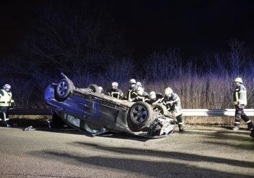 Schwerer Verkehrsunfall auf der A24 - Junger fahrer unter Alkohol?