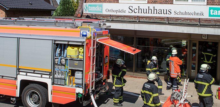 Cranz - Defekte Lampe löst Einsatz der Feuerwehr aus